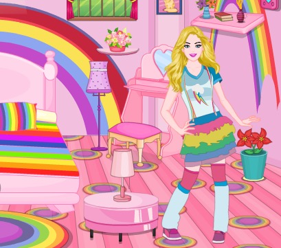 Barbie Rainbow Bedroom De…