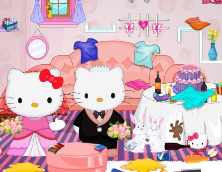 Hello Kitty Wedding Party Cleaning