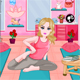 Barbie Yoga Room Decoration
