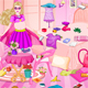 Pregnant Super Barbie Room Cleaning