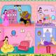 Princess Belle Doll House Decor